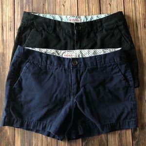 Two Pair Merona Cotton Shorts Bundle Size 2